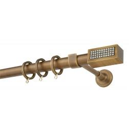 Κουρτινόβεργα Zogometal E4138 -Single Tube -  σε χρώμα μπρονζέ