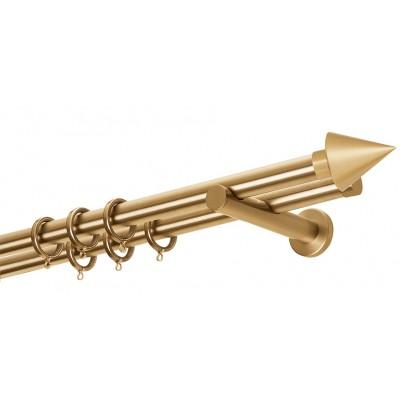 Κουρτινόβεργα Zogometal A4146-Single- Double Tube σε χρώμα χρυσό/ματ.